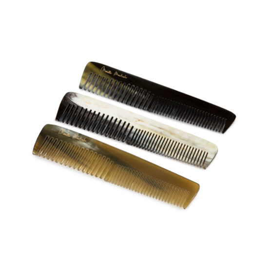 Mariella Martinato Genuine horn comb pocket size baguette - double tooth