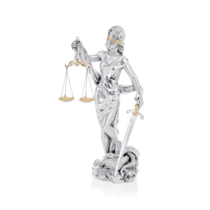 Linea Argenti Silver-resin Goddess of Justice Posing