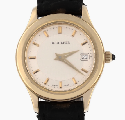 Carl F. Bucherer Lady's 18K Solid Yellow Gold Full Set In Perfect Condition - 7104