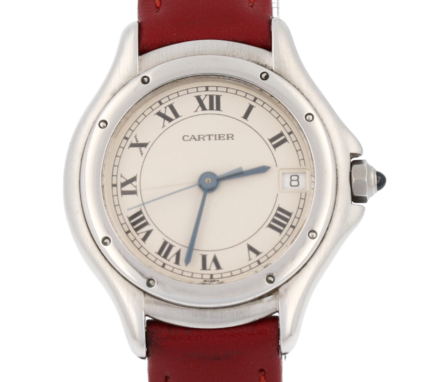 Cartier Couger Panthere Date Roman Numeral 26 mm Lady's Watch - 987906