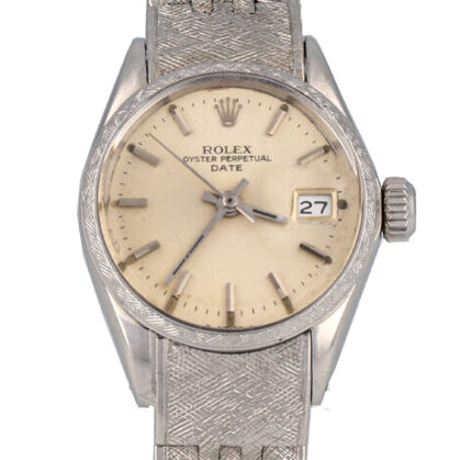 Rolex Florentine 1963 Automatic in Full (18K) 750 White Gold Museum Condition serviced - 6520