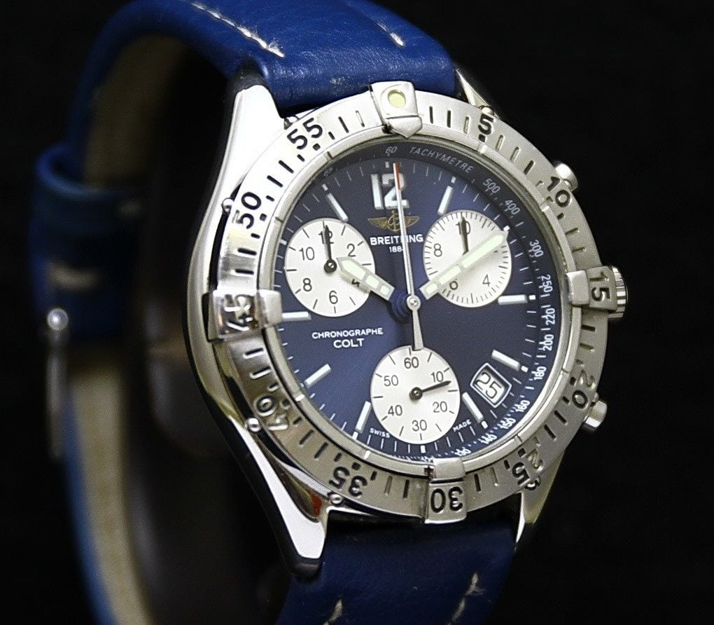 b38c6a5bc77 SOLD. Sale! Home / Sold Watches / Breitling Colt Ocean Ø 38 mm Chronograph  ...